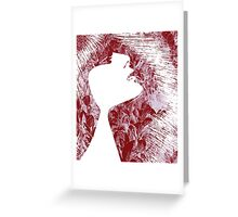 Sensuality, face Greeting Card