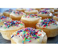 Cupcakes with coloured sprinkles Photographic Print