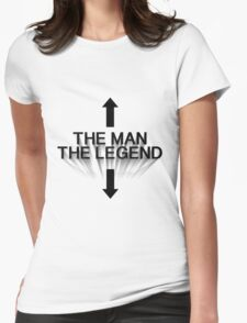 The Man The Legend - Black Womens Fitted T-Shirt