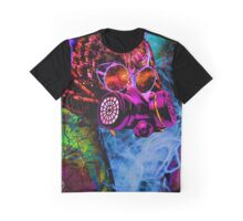 Mask Alien Brain Scape Graphic T-Shirt