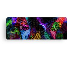 Mask Alien Brain Scape Canvas Print
