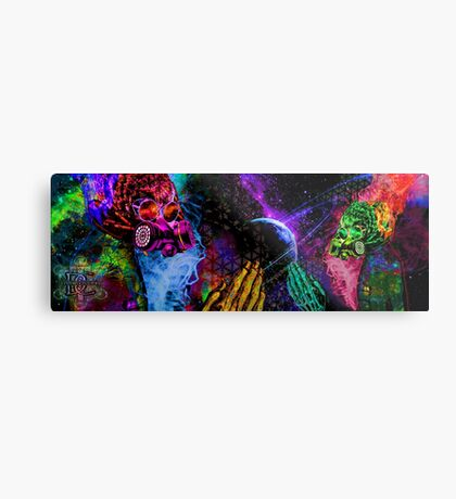 Mask Alien Brain Scape Metal Print
