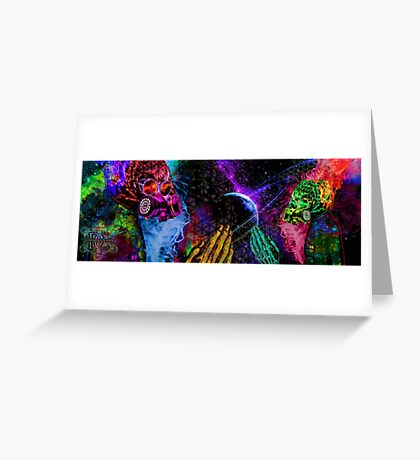 Mask Alien Brain Scape Greeting Card
