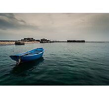 Blue boat Photographic Print