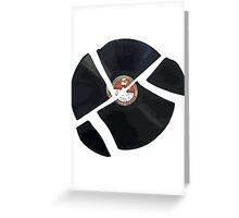 Smash Record Greeting Card