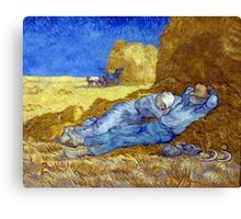 Vincent van Gogh The Siesta Canvas Print