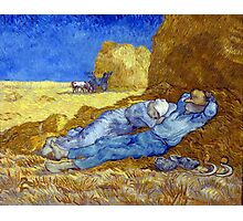 Vincent van Gogh The Siesta Photographic Print
