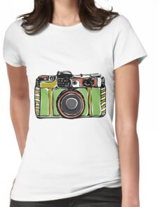 Vintage film camera  Womens Fitted T-Shirt