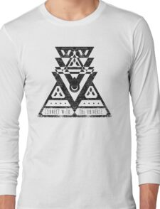 Connect With The Universe - Typography and Geometry Long Sleeve T-Shirt