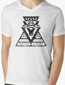 Connect With The Universe - Typography and Geometry Mens V-Neck T-Shirt