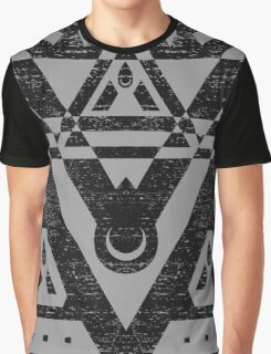 Connect With The Universe - Typography and Geometry Graphic T-Shirt
