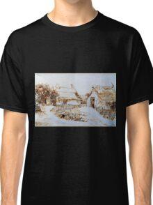 Vincent van Gogh Two Cottages at Saintes-Marie-de-la-Mer Classic T-Shirt