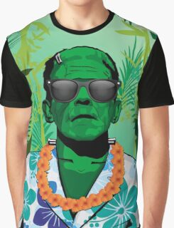 Frankensteins Monster Holiday Graphic T-Shirt