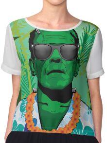 Frankensteins Monster Holiday Chiffon Top