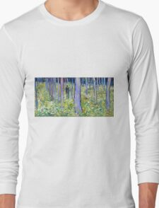 Vincent van Gogh Undergrowth with Two Figures Long Sleeve T-Shirt