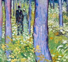 Vincent van Gogh Undergrowth with Two Figures Sticker