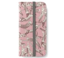 cat party pink iPhone Wallet/Case/Skin
