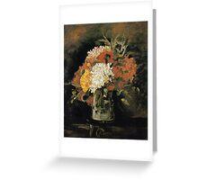 Vincent van Gogh Vase of Carnations Greeting Card