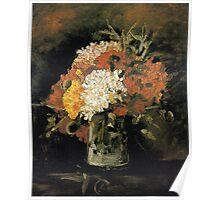 Vincent van Gogh Vase of Carnations Poster