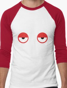 Don't Hug Me I'm Scared Red Guy Eyes Men's Baseball ¾ T-Shirt