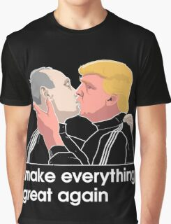 Trump kissing Putin Graphic T-Shirt