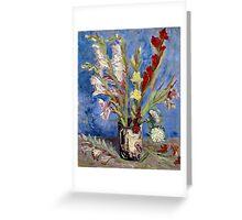 Vincent van Gogh Vase of Gladioli and Chinese Asters Greeting Card