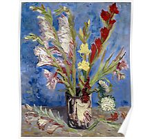 Vincent van Gogh Vase of Gladioli and Chinese Asters Poster