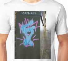 Graffiti On A Box In The Street Unisex T-Shirt