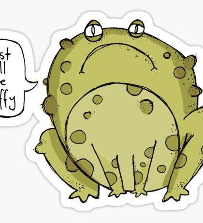 fluffy toad? Sticker