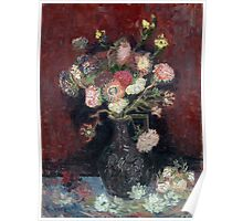 Vincent van Gogh Vase with Chinese Asters and Gladioli Poster