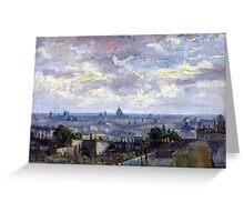 Vincent van Gogh View of Paris Greeting Card