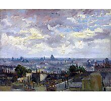 Vincent van Gogh View of Paris Photographic Print