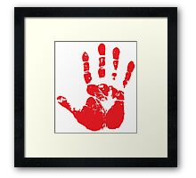 Red handed Framed Print