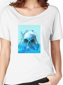 SKULL IN WATER Women's Relaxed Fit T-Shirt