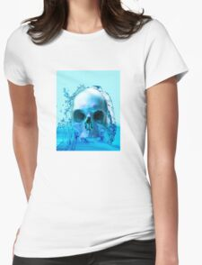 SKULL IN WATER Womens Fitted T-Shirt