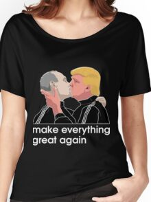 Trump kissing Putin Women's Relaxed Fit T-Shirt