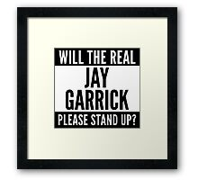 Will The Real Jay Garrick Please Stand Up? Framed Print