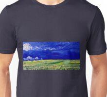 Vincent van Gogh Wheatfield under Thunderclouds Unisex T-Shirt
