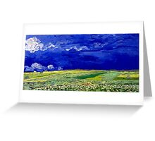 Vincent van Gogh Wheatfield under Thunderclouds Greeting Card
