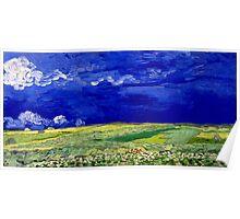 Vincent van Gogh Wheatfield under Thunderclouds Poster