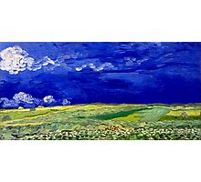 Vincent van Gogh Wheatfield under Thunderclouds Photographic Print