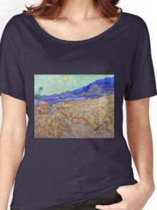 Vincent van Gogh Wheatfield with a Reaper Women's Relaxed Fit T-Shirt