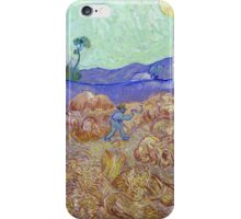 Vincent van Gogh Wheatfield with a Reaper iPhone Case/Skin