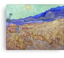 Vincent van Gogh Wheatfield with a Reaper Canvas Print