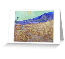Vincent van Gogh Wheatfield with a Reaper Greeting Card