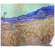Vincent van Gogh Wheatfield with a Reaper Poster