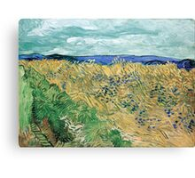 Vincent van Gogh Wheatfield with Cornflowers Canvas Print
