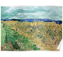 Vincent van Gogh Wheatfield with Cornflowers Poster
