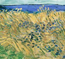Vincent van Gogh Wheatfield with Cornflowers Sticker