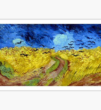 Vincent van Gogh Wheatfield with Crows Sticker